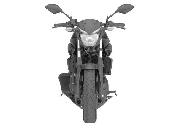 Yamaha MT-03 front