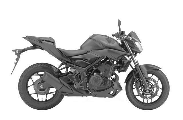Yamaha MT-03 side profile