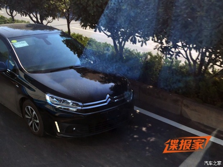 2015 Citroen C4 sedan front for China spied