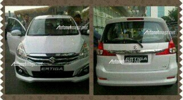 2015 Suzuki Ertiga facelift front and rear spotted undisguised