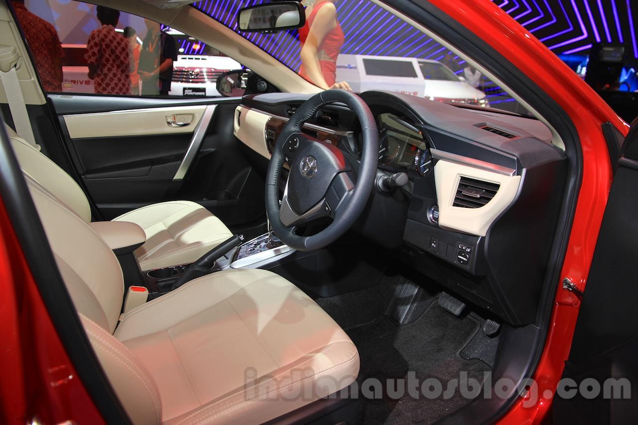 2015 Toyota Corolla Altis TRD Sportivo interior at the ...  2015 Toyota Cor...