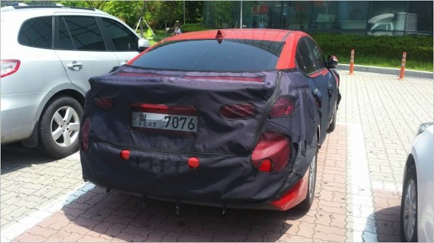 2016 Hyundai Elantra spied rear South Korea