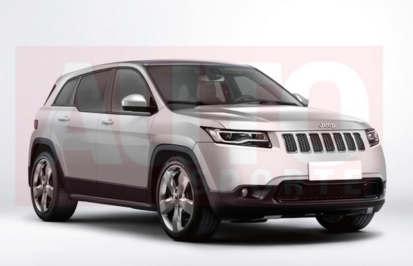 2016 Jeep Compact SUV (551) front three quarter Rendering