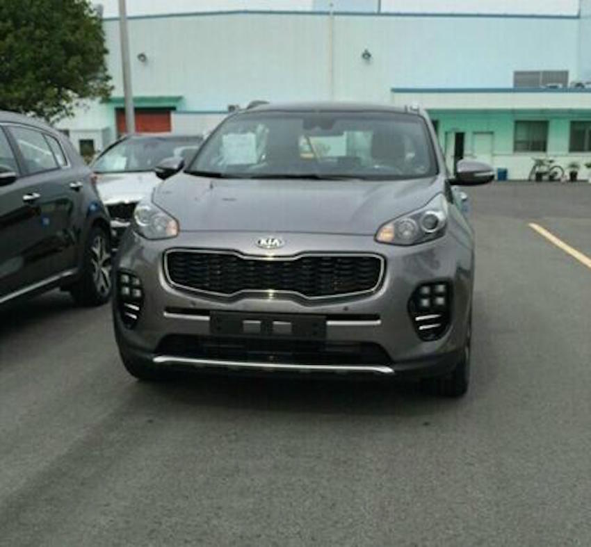 2016 Kia Sportage front spotted undisguised