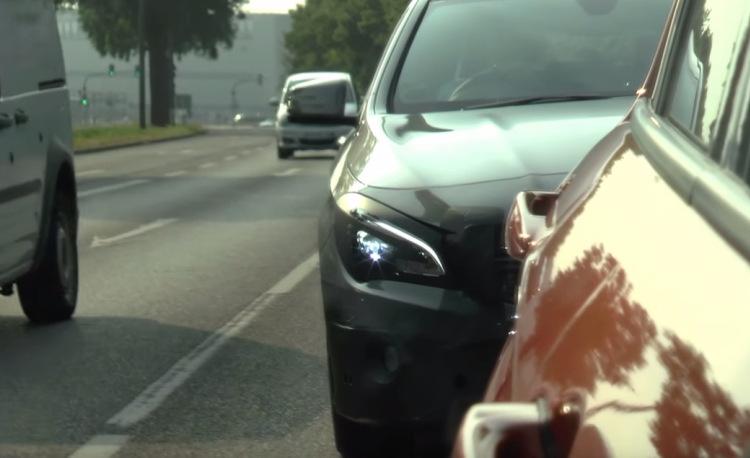 2016 Mercedes CLA facelift LED headlamps spotted
