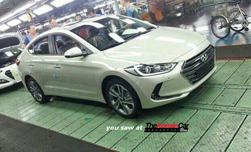 2017 Hyundai Elantra front three quarter spotted undisguised in plant