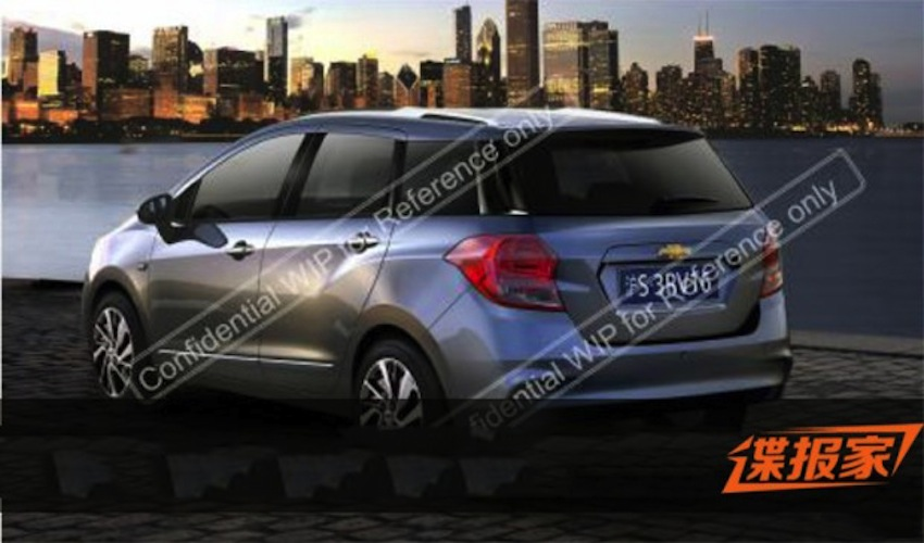 Chevrolet Lova MPV rear for China 2015 leaked