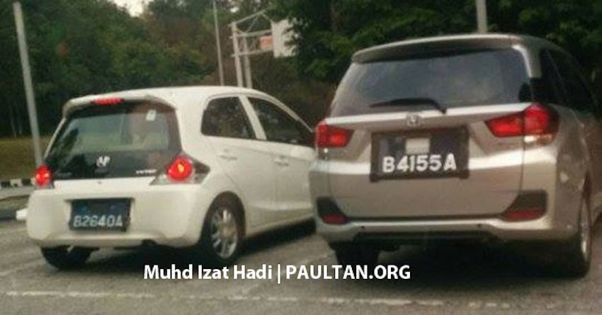 Honda Brio and Honda Mobilio rear spotted in Malaysia