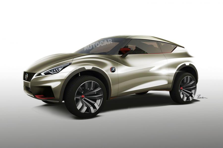 Nissan Z SUV side view speculative rendering by Autocar UK