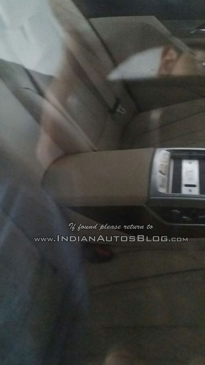 2016 BMW 7 Series rear armrest India spied