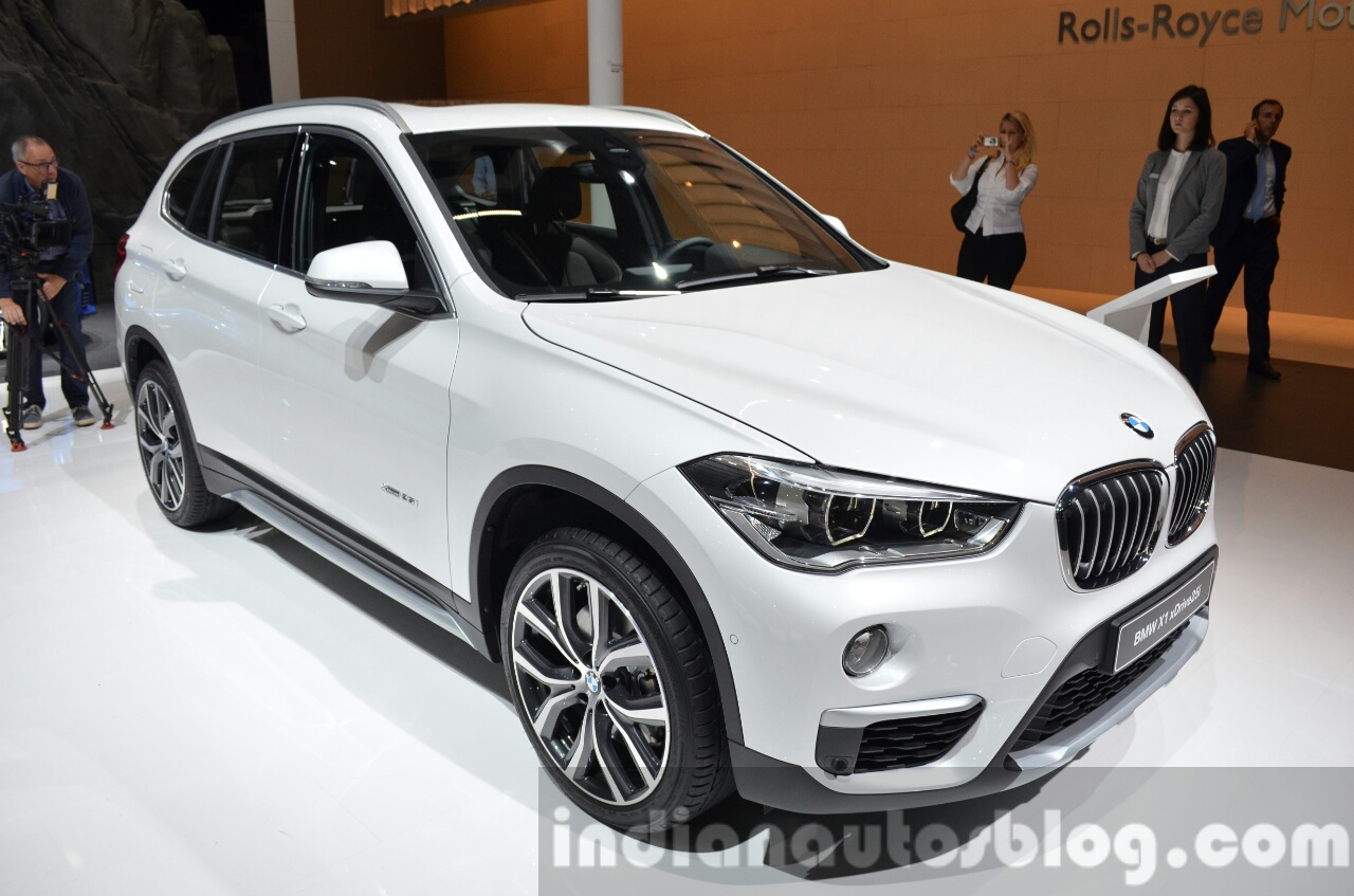 2016 bmw x1 front three quarter left view at the iaa 2015. Black Bedroom Furniture Sets. Home Design Ideas