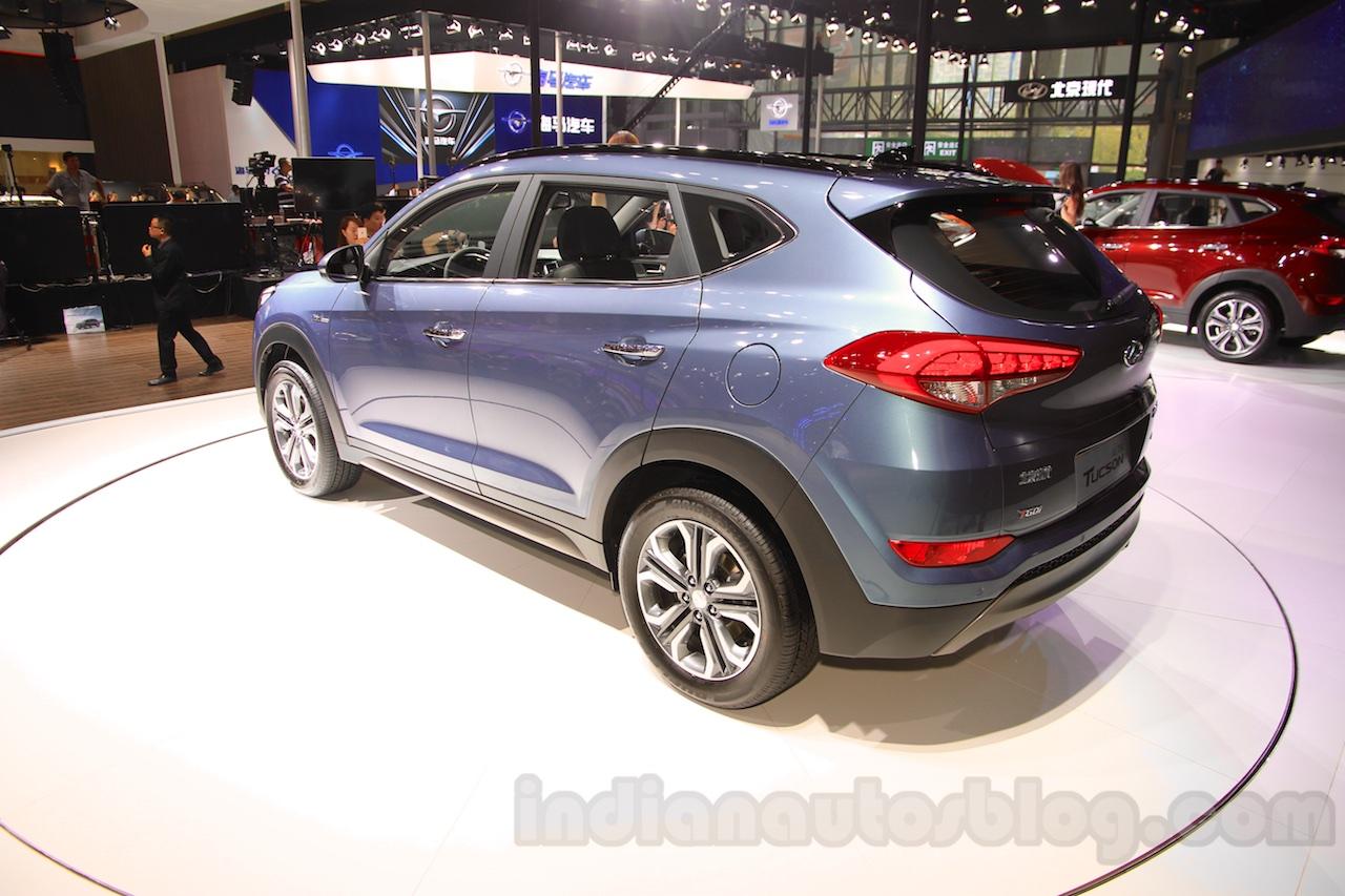 2016 Hyundai Tucson rear quarter at the 2015 Chengdu Motor Show