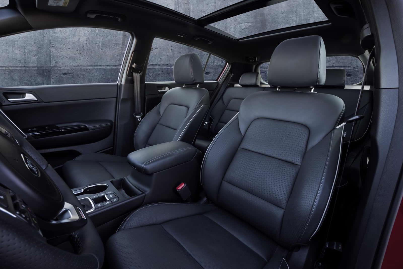 2016 Kia Sportage seats press shots