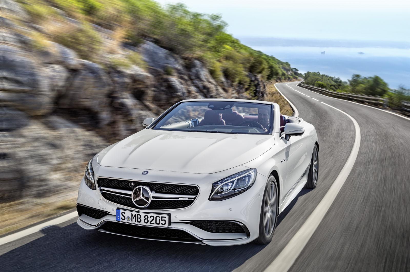 2016 Mercedes-AMG S 63 Cabriolet front quarter unveiled