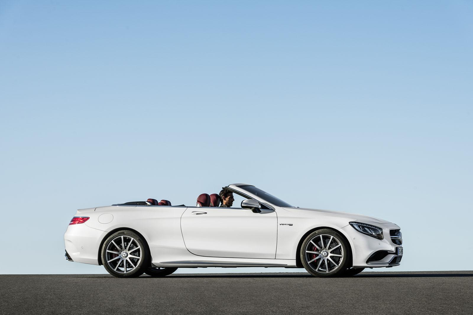 2016 Mercedes-AMG S 63 Cabriolet side unveiled