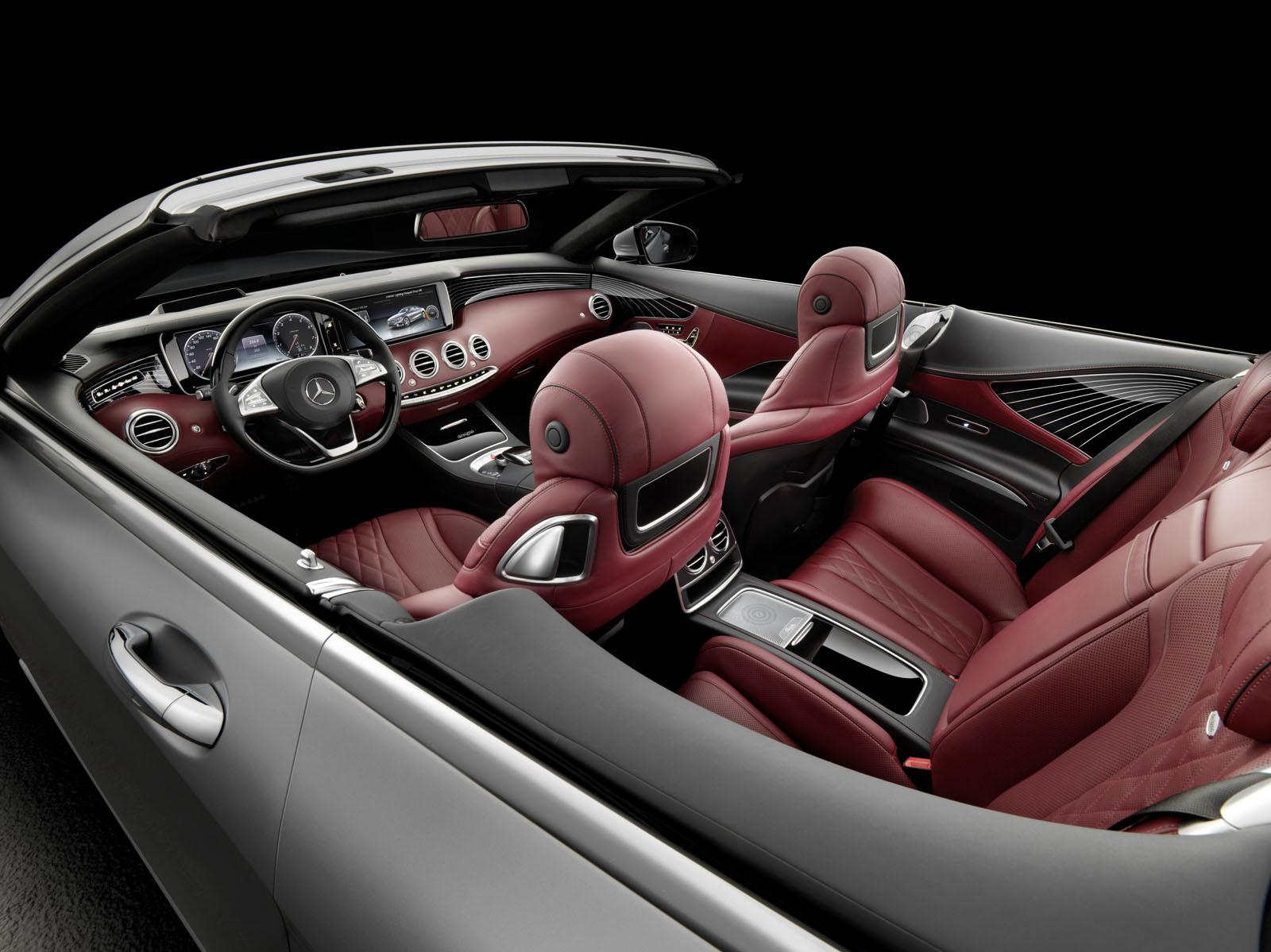 2016 Mercedes S Class Cabriolet cabin unveiled