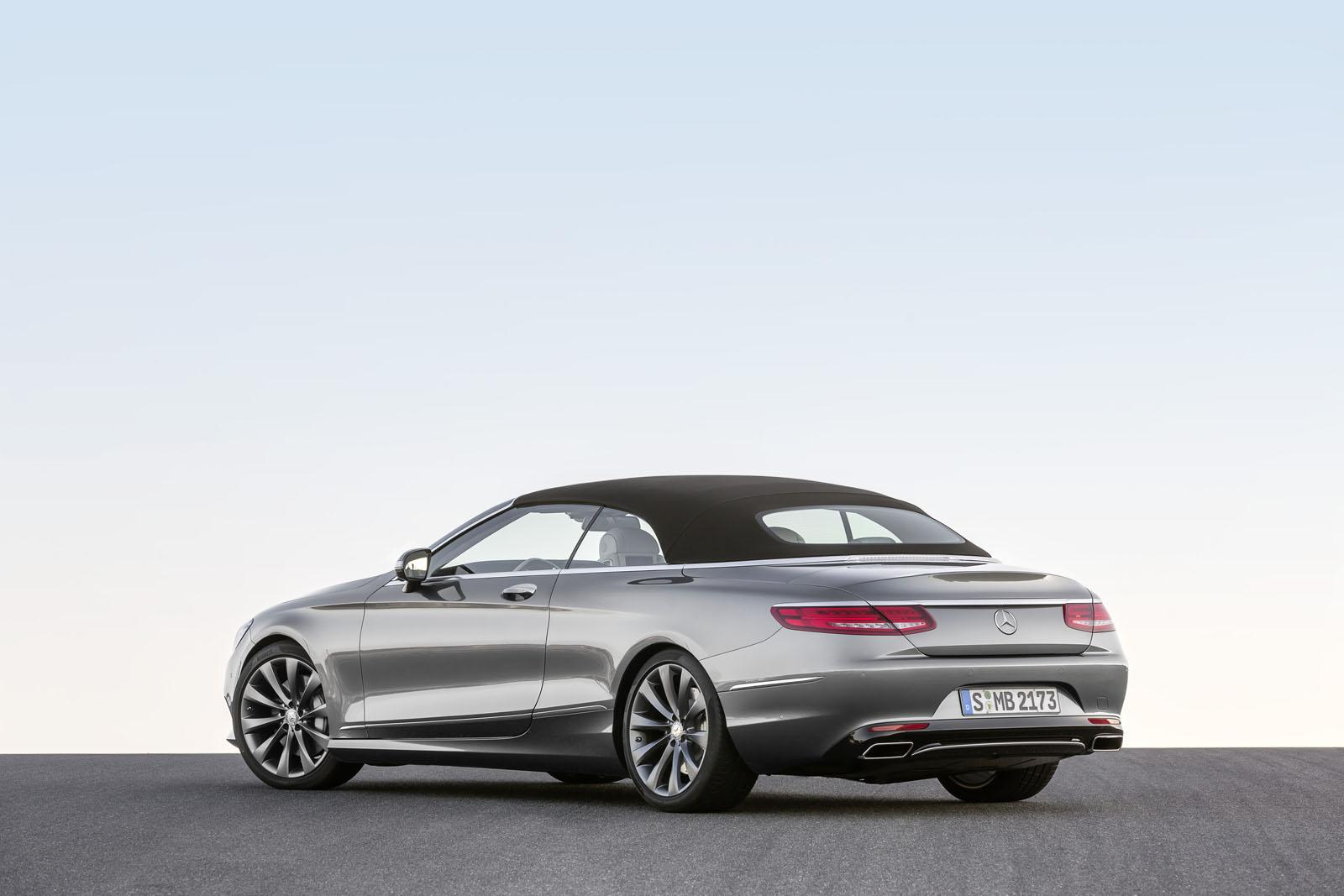 2016 Mercedes S Class Cabriolet rear three quarter unveiled