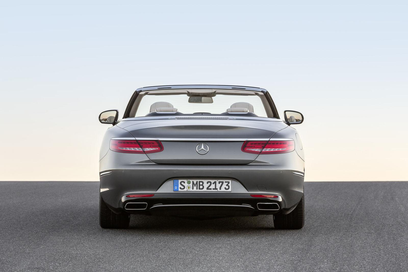 2016 Mercedes S Class Cabriolet rear unveiled