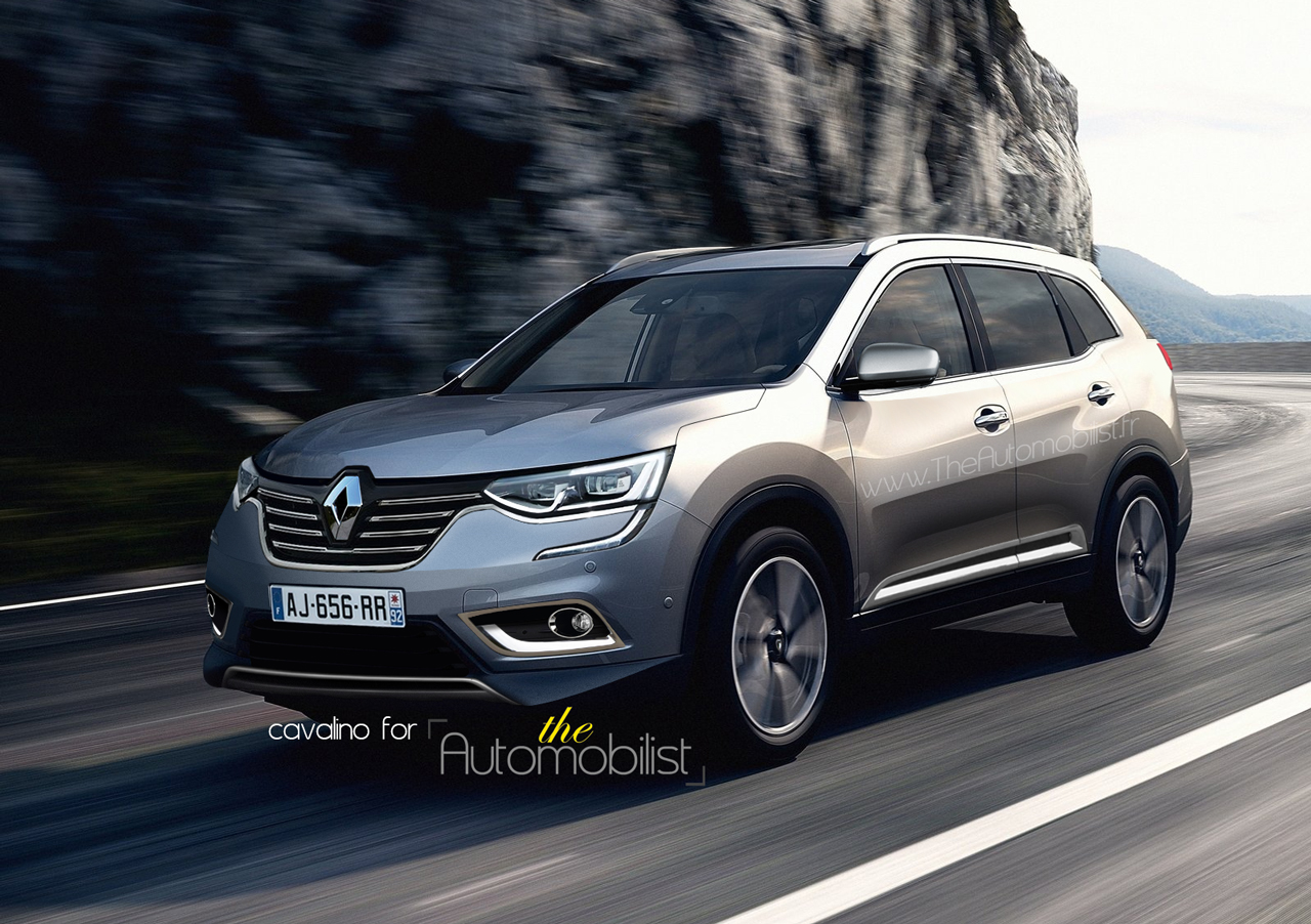 2016 Renault Koleos front three quarters rendered by Automobilist