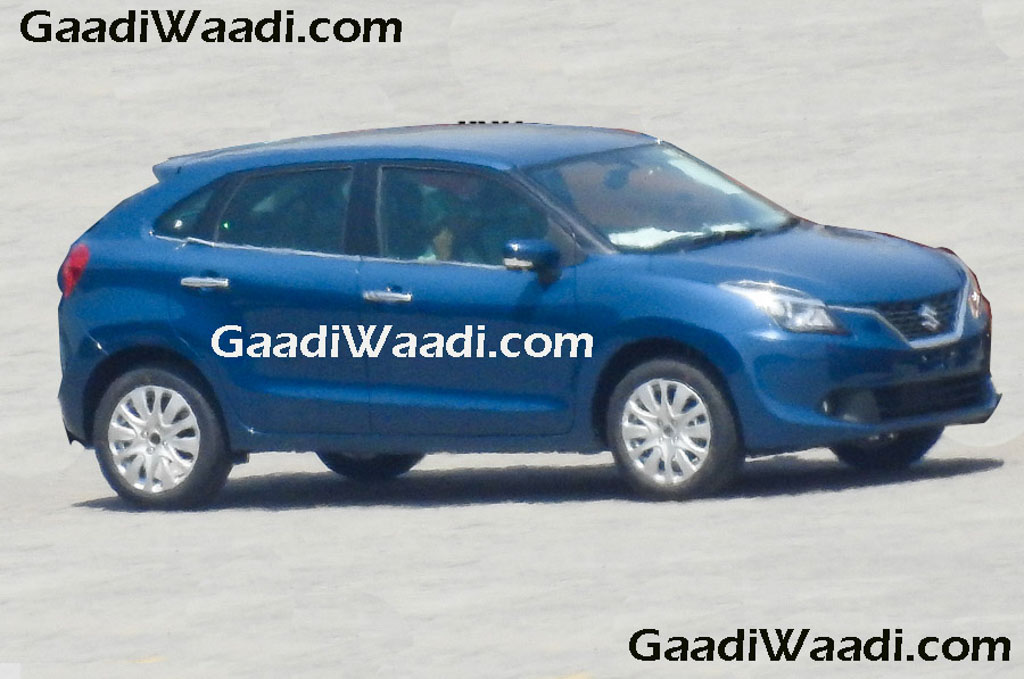 2016 Suzuki Baleno (Maruti YRA) front three quarter spotted in the wild