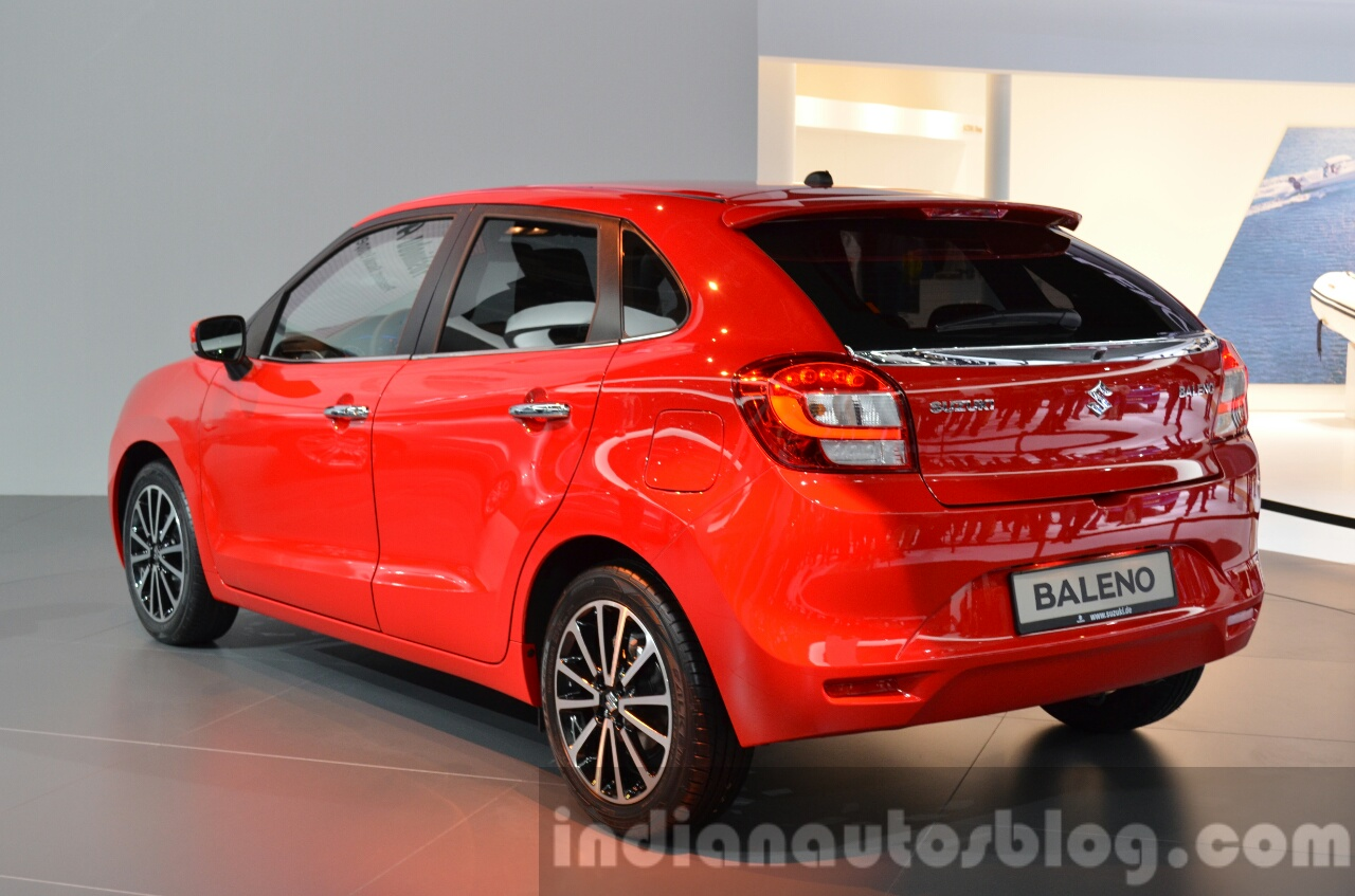 2016 suzuki baleno rear three quarter left at iaa 2015. Black Bedroom Furniture Sets. Home Design Ideas