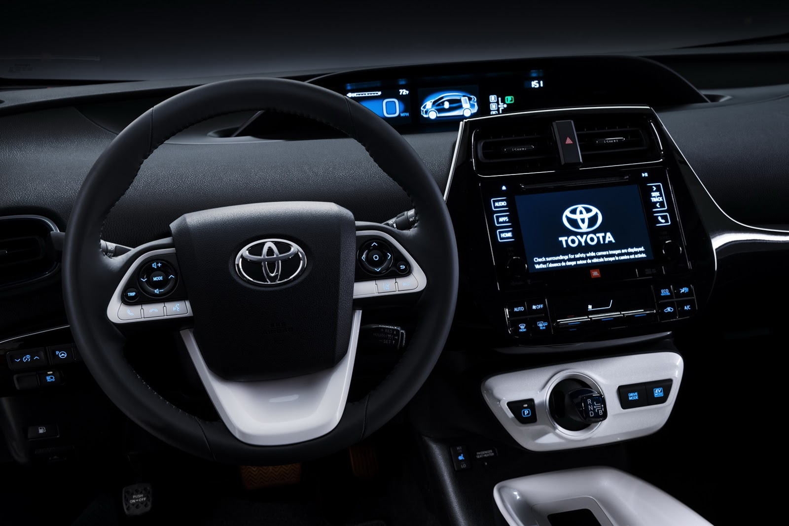 2016 Toyota Prius cockpit North American specification official image