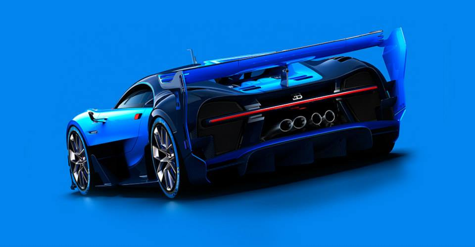 Bugatti Vision Gran Turismo rear three quarter unveiled