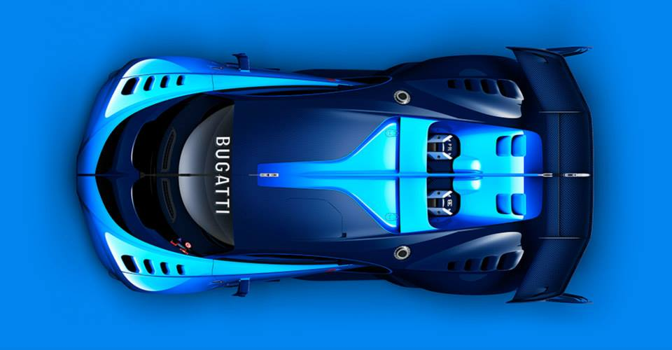 Bugatti Vision Gran Turismo top view unveiled