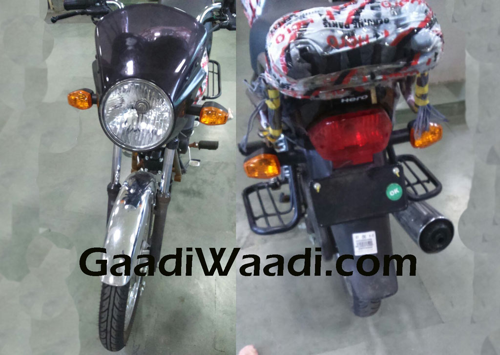 Hero HF Dawn 125 front and rear test mule spotted with minimum camouflage