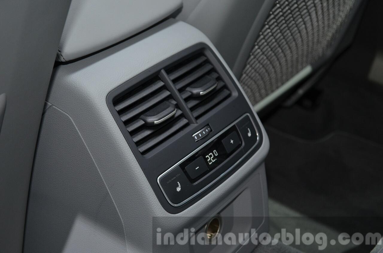 India-bound 2016 Audi A4 rear HVAC controls at the IAA 2015
