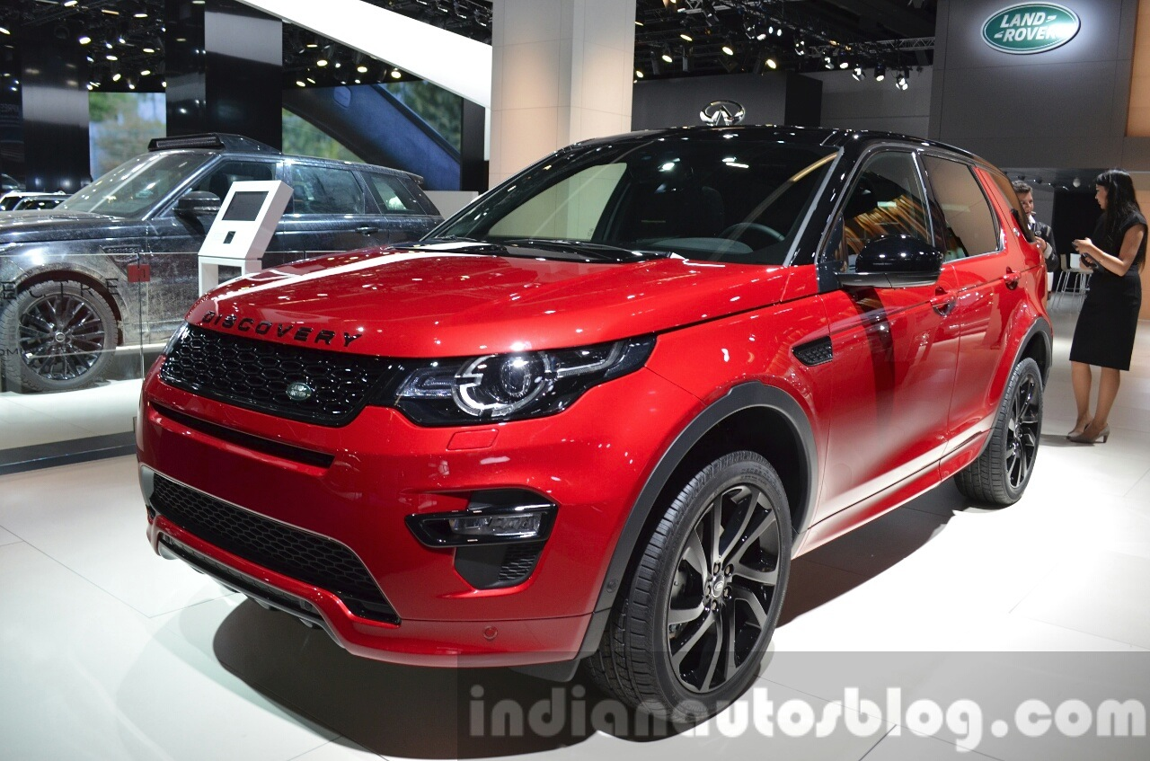 land rover discovery sport hse dynamic lux iaa 2015 live. Black Bedroom Furniture Sets. Home Design Ideas