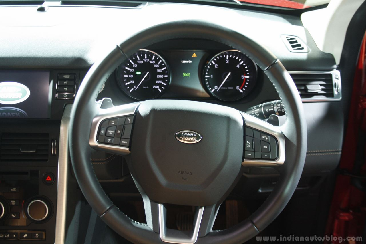 Land Rover Discovery Sport steering wheel Launch in Mumbai