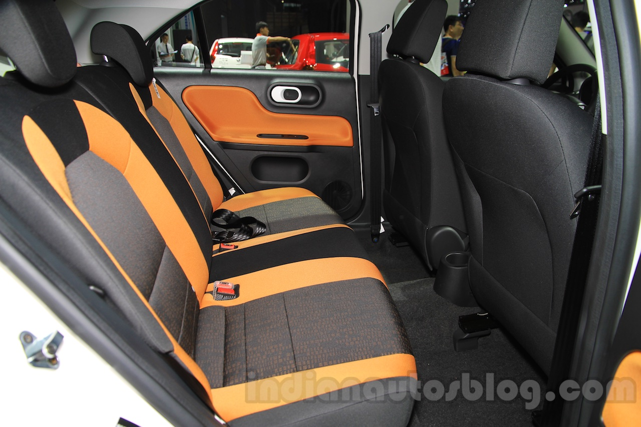 MG 3SW rear seats at the 2015 Chengdu Motor Show
