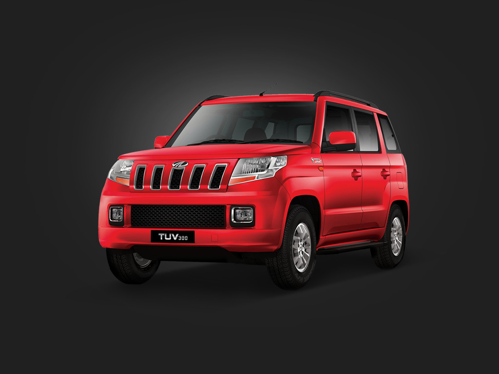 Mahindra TUV300 front three quarter left website image