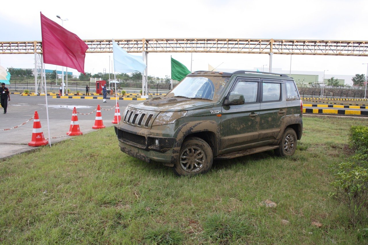Mahindra TUV300 kitted up with Accessories
