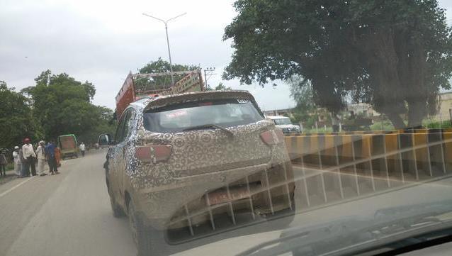 Mahindra XUV100 spied