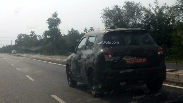 Maruti YBA rear quarter mini SUV spied