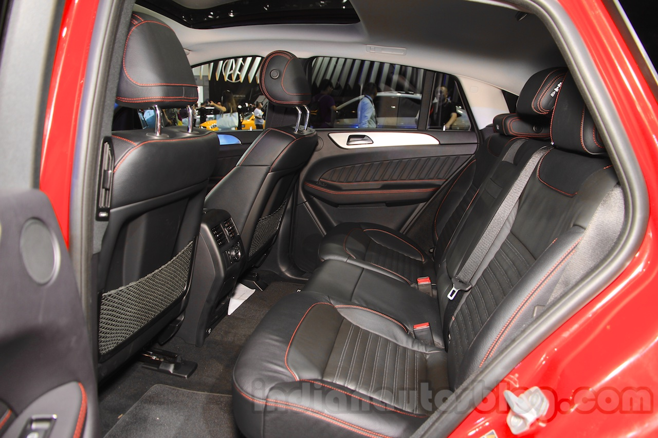 Mercedes-Benz GLE 450 AMG Coupe rear seats at the 2015 Chengdu Motor Show