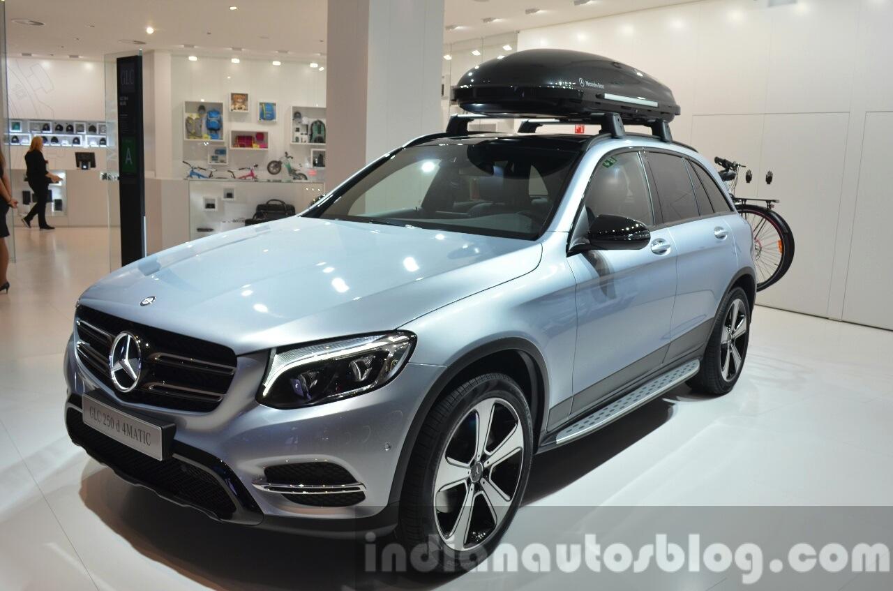 Mercedes Glc Accessories Roof Box At Iaa 2015
