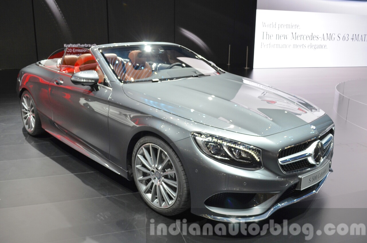 2016 mercedes s class cabriolet 2015 iaa live. Black Bedroom Furniture Sets. Home Design Ideas