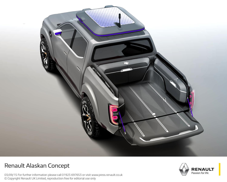Renault Alaskan pick-up truck top view unveiled