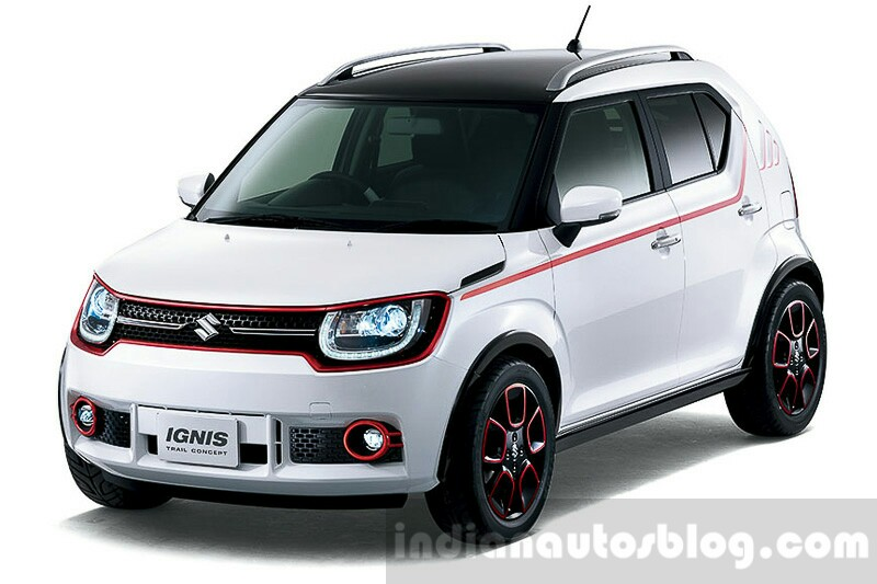 Suzuki Ignis Trail concept front quarter press shots