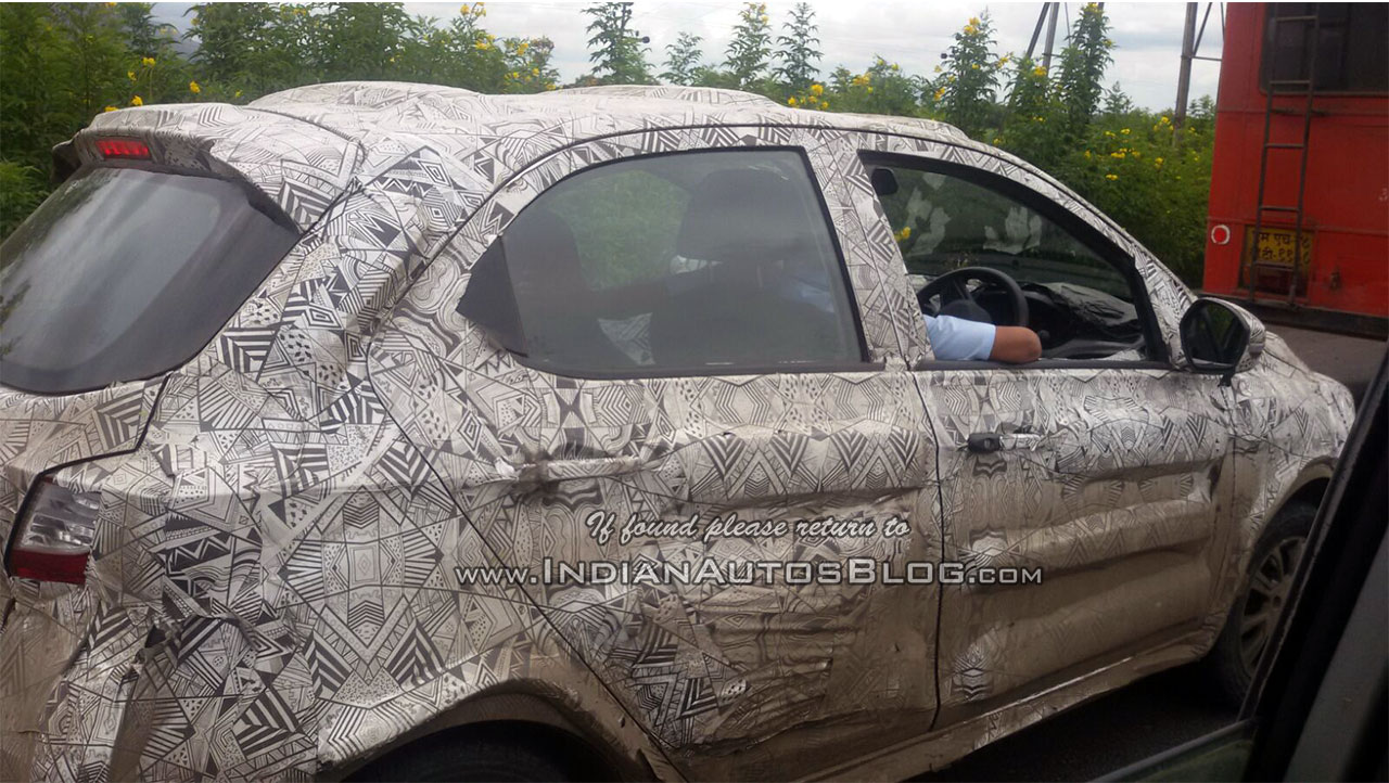 Tata Kite front and rear window spotted on test in India