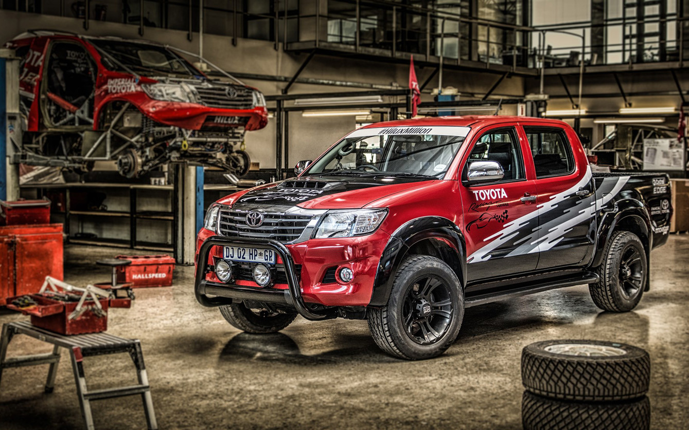 Toyota Hilux front with Lexus IS-F engine (V8) by Toyota South Africa (Hilux Racing Experience)