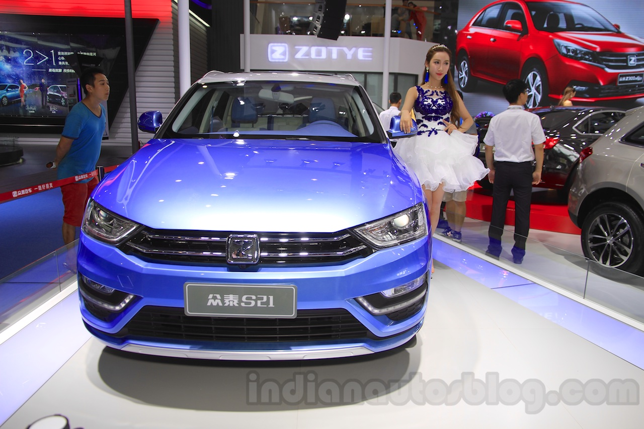 Zotye S21 front at the 2014 Chengdu Motor Show