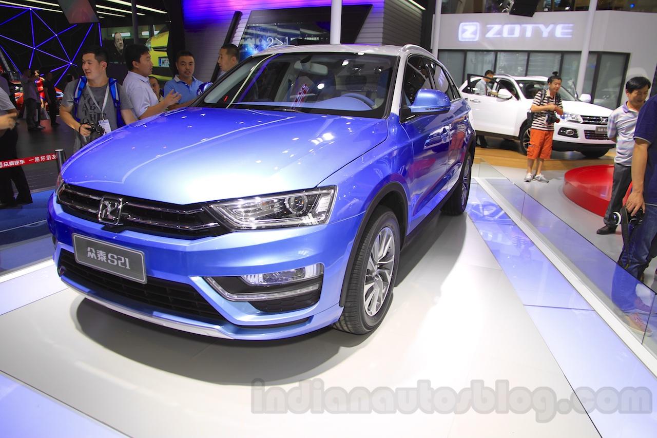 Zotye S21 front quarter at the 2014 Chengdu Motor Show