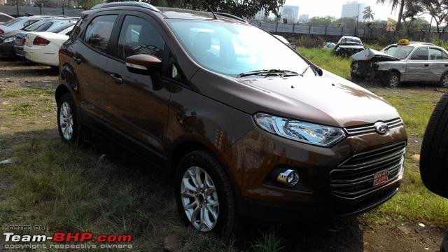 2016 Ford EcoSport India front spied