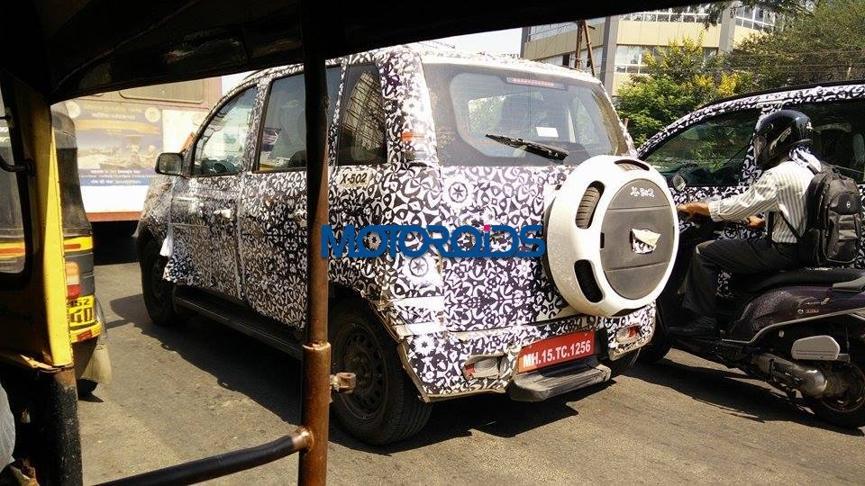 2016 Mahindra Quanto (Canto) rear three quarter snapped testing in Nashik