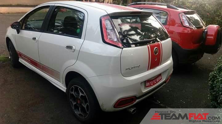Fiat Abarth Punto in White rear