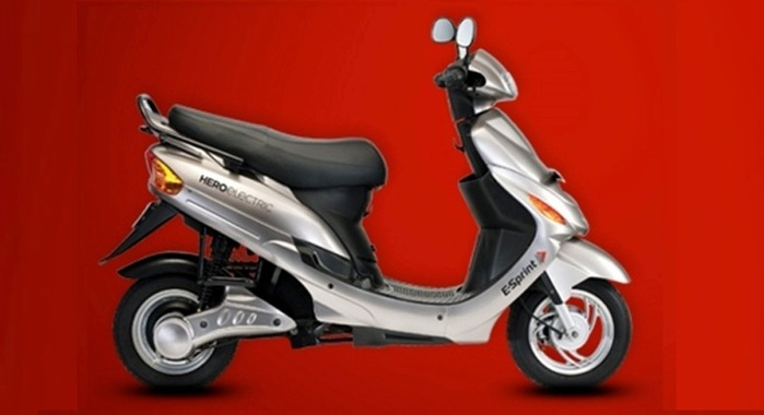 Hero Electric E-Sprint scooter silver side